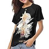 huatongxin Sword Art Online Mujer Verano Casual Camiseta de béisbol Camiseta de Manga Corta