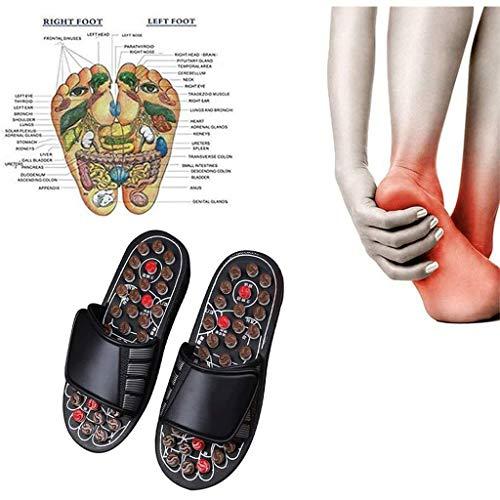TOYS Akupressur Massage Slipper Fußmassagegerät Hausschuhe Schuhe Akupunktur Fußmassage Matte Sandalen Schuhe Plantarfasziitis Fußmassagegerät Für Männer Frauen,B,XL