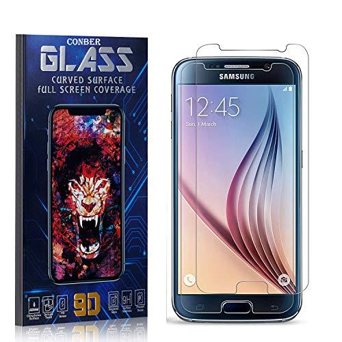 Conber Panzerglasfolie für Samsung Galaxy S6, [2 Stück] 9H gehärtes Glas, Blasenfrei, Kratzfest, Hülle Freundllich Hochwertiger Panzerglas Schutzfolie für Samsung Galaxy S6