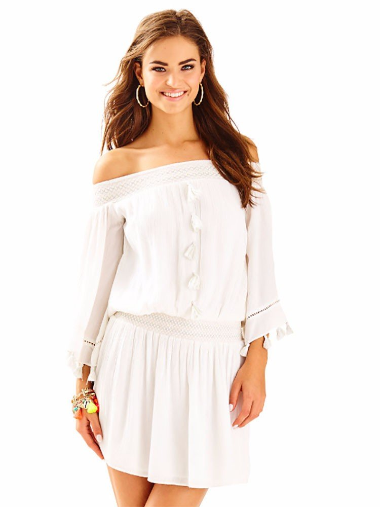 Available at Amazon: Lilly Pulitzer Women's Joelle Dress Resort White Size XS