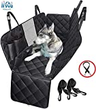 DOG GIFTS COMPATIBLE WITH MOST CARS - No need to worry about hair, scratches, liquids and dirt on the back seat with our premium car seat covers for dogs and dogs. This dog seat cover is available for most cars, vans, and SUVs. DON'T WORRY ABOUT HAVI...