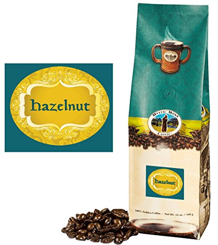 Mystic Monk Coffee: Hazelnut Whole Bean (Flavored 100% Arabica Coffee) - 12 ounce bag