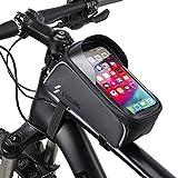 BACAKSY Bolsa Bicicleta Manillar, Bolsas de Bicicleta Impermeable Bolsa Movil Bicicleta Pantalla Táctil Sensible Tubo Superior Soporte Bolsa Táctil Bicicleta para iPhone Samsung Huawei Debajo de 6,5''