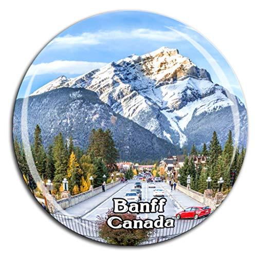 Banff National Park Canada Fridge Magnet 3D Crystal Glass Tourist City Travel Souvenir Collection Gift Strong Refrigerator Sticker