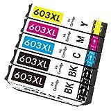 Cartridgeify 603XL Compatible con Epson 603 603XL Cartucho de Tinta, para Expression Home XP-2100 XP-2105 XP-3100 XP-3105 XP-4100 XP-4105, Workforce WF-2810 WF-2830 WF-2835 WF-2850