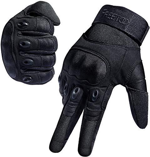 [Sport Handschuhe] FREETOO Motorrad Handschuhe Herren Vollfinger Army Gloves Ideal für Airsoft, Militär,Paintball,Airsoft, lebenslange Garantie