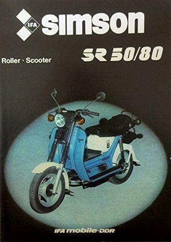 Schönes Prospekt SIMSON Roller Scooter SR 50/80 - DDR STIL 1986