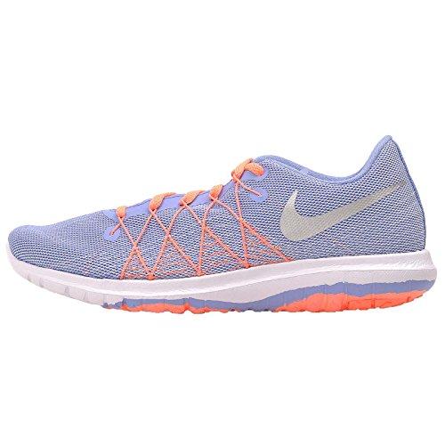 Nike Nike Girls Flex Fury 2 Running Shoes Chalk Blue/White/Bright Mango/Metallic Silver 6.5Y