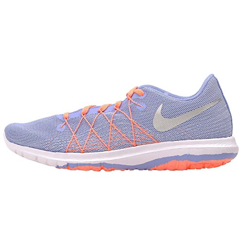 Nike Girls Flex Fury 2 Running Shoes Chalk Blue/White/Bright Mango/Metallic Silver 6.5Y