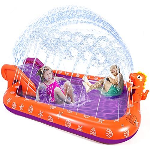 Splash Pad Sprinkler for Kids, Toddlers Inflatable Wading Pool 90