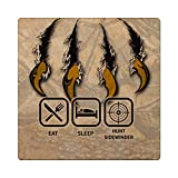 Makoroni - EAT SLEEP HUNT SIDEWINDER Hunt Hunter Hunting 4'x4' Ceramic Drink Coaster Trive w/Cork Backing, DesC54