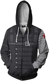 Winter Soldiers Anime 3D Cosplay Cardigan Zip Hoodie/Unisex Adult