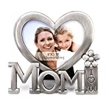 QTMY Christmas Gifts for Mom I Love You Picture Frame,Heart Shape Metal Desktop Decor from Daughter Son for Mother's Birthday Day (1)