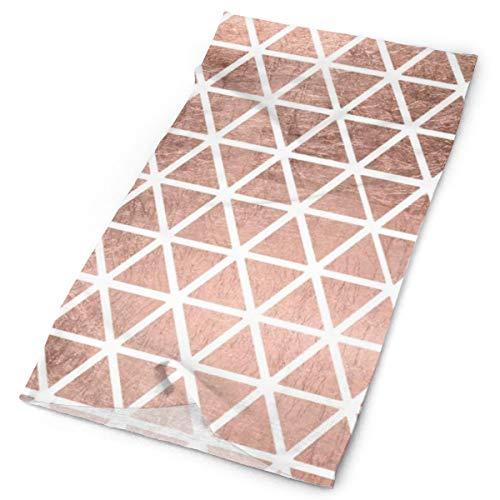 Moderno de imitación de oro rosa de aluminio triángulos multifuncional, accesorio elástico al aire libre cuello transpirable protección UV de la cara del escudo calentador de la muñeca para todo el año