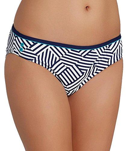 Cleo by Panache Women's Lucille Classic Bikini Bottom, Geo Stripe, X