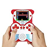 12 Bit Handheld Games Console for Kids,  Portable Games Console Built-in 220 Classic Games, Retro Video Games Player, Panda Design 2.5 Inch LCD Arcade Gaming System USB Charge for Children - Red