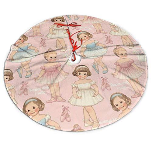 AEMAPE Falda de árbol de Navidad Falda de árbol de Navidad de Ballet para niños, Decoración de Fiesta de año Nuevo, 91Cm (36 Pulgadas)