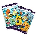 8 bolsas de botín para fiesta de cumpleaños Pokémon Pikachu