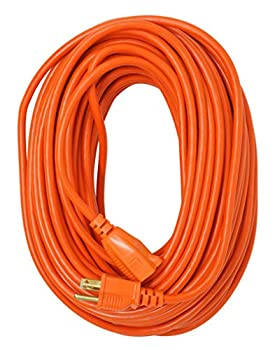 Southwire 2309SW8803 16/3 Vinyl Outdoor Extension Cord Weather Resistant Flexible Vinyl Jacket 3- Pronged 100-Foot Extension Cord 10 AMP 1250 Watts Orange