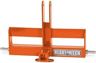 Category 1, 3 Point Hitch Receiver Drawbar with Suitcase Weight Bracket - Standard Duty, Kubota Orange