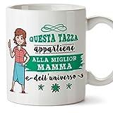 Mugffins Tazza Mamma - Questa Tazza appartiene alla miglior Mamma dell'Universo - Tazza Originale in Ceramica Idea Regalo Festa della Mamma