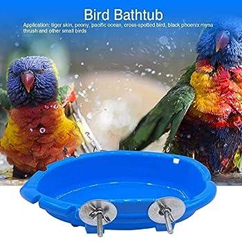 Guangyu Oiseau Baignoire Bol,Bains d'oiseaux,Oiseau Mangeoire,Baignoires à Oiseaux Bol de Baignoire,Petit Perroquet Douche Baignoire