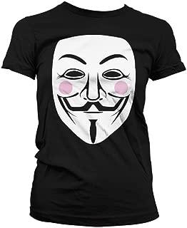 Licensed Merchandise Funny V For Vendetta Girly T-shirt (Black), Small