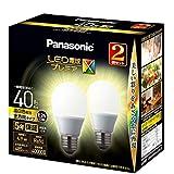 パナソニック LED電球 口金直径26mm プレミアX 電球40形相当 温白色相当(4.9W) 一般電球 全方向タイプ 2個入り 密閉器具対応 LDA5WWDGSZ42TAN
