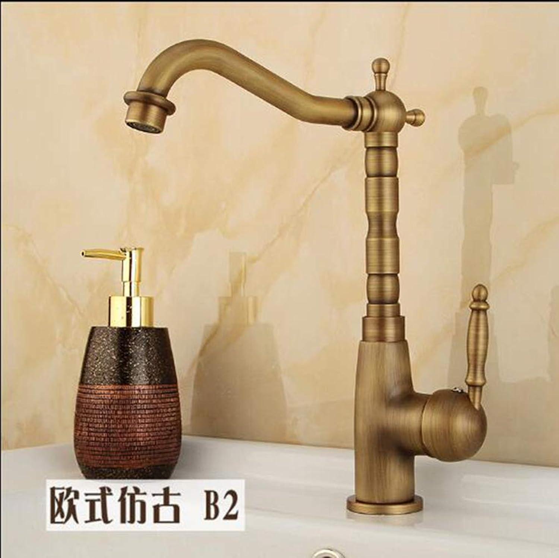 FZHLR Hot and Cold Kitchen Faucets Single Handle Antique Kitchen Tap Single Hole Handle redate Kitchen Crane Swivel Sink Mixer Tap,Antique Bronze 6
