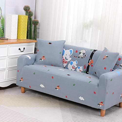 HXTSWGS Funda de sofá de Terciopelo,Funda de sofá elástica, Tela elástica, Funda Protectora para Muebles-Gris 6_145-185cm
