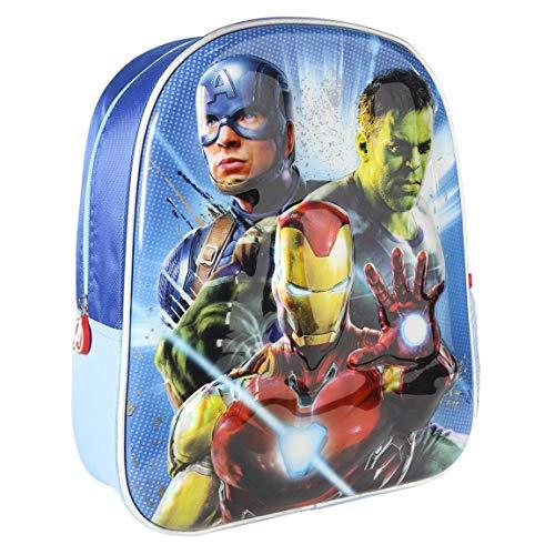 Cerdá, Mochila Infantil 3D Premium Metalizada Avengers Unisex niños, Multicolor, 26.0 X 31.0 X 10.0 CM