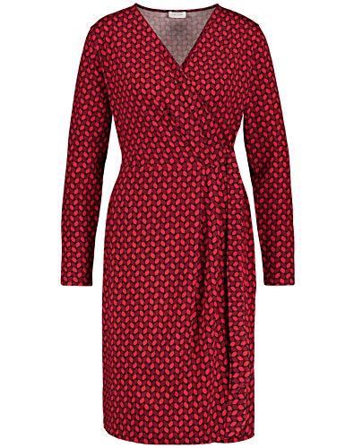 Gerry Weber Damen 280906-35049 Kleid, Mehrfarbig (Rot Rubin Druck 6102), (Herstellergröße: 46)