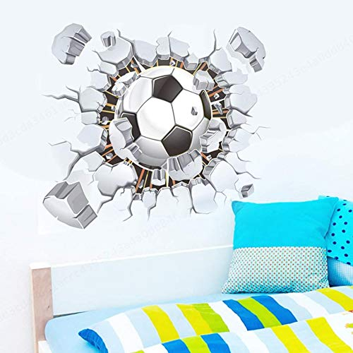 LAQI Fútbol Pegatinas de Pared rotas Sala de Estar Dormitorio Pegatinas de Pared Clubes de fútbol Pegatinas Decorativas