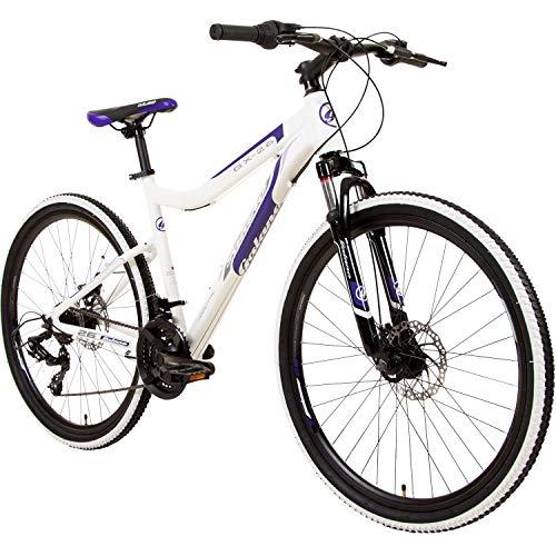 Galano GX-26 26 Zoll Damen/Jungen Mountainbike Hardtail MTB (Weiss/lila, 38cm)