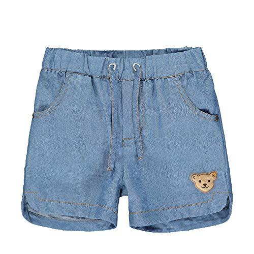 Steiff Mädchen Jeans Shorts, Blau (Colony Blue 6052), 98 (Herstellergröße:098)