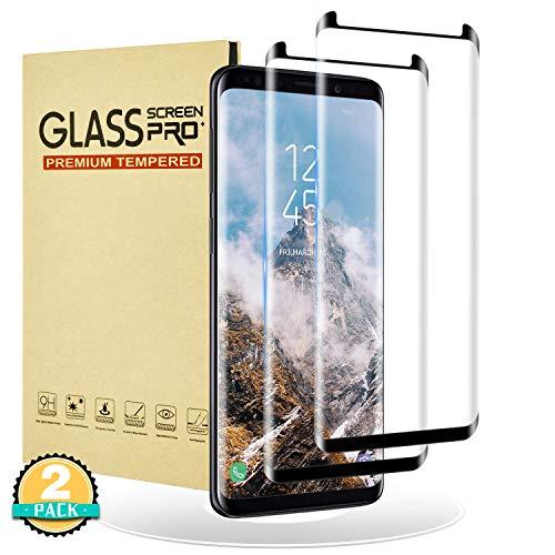 RIIMUHIR Glazen Screenprotector voor Samsung Galaxy S8 Plus, 3D Full Cover Glazen Screenprotector voor Galaxy S8 Plus, [2 stuks] [Shell-vriendelijke] Film voor Samsung Galaxy S8 Plus