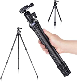 AOKA 28in/1.1lb Lightweight Compact Carbon Fiber Tripod with 360° Ballhead Travel Mini Tripod for Mobile Phone and Compact...