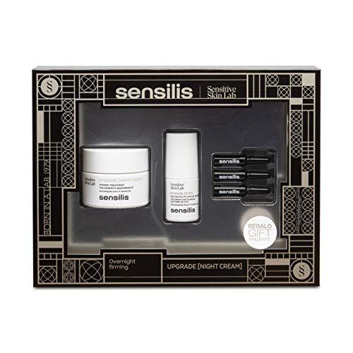 Sensilis Upgrade - Kit de Belleza Reafirmante con Crema de Noche (50 ml) + Contorno de Ojos (15 ml) + Ampollas Faciales (3 X 1,5 ml)