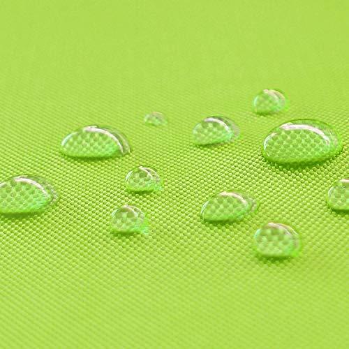 NOVELY Oxford 600D Polyester Stoff Outdoor wasserdicht Meterware Segeltuch PVC: Farbe: 19 Neon Kiwi
