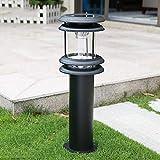 Césped para Exteriores Bolardo Redondo Solar Luz LED para pilares Impermeable IP54 Cuadrado Comunidad Pasillo Decoración Villa Patio Hierro Fundido Acrílico Forma lámpara Columna Poste Linterna