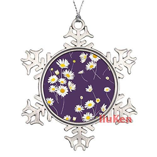 happygoluck1y - Patrón floral sin costuras con flores de manzanilla, peltre copo...