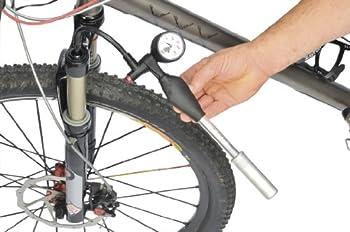 ZEFAL Z Shock Pompe Pneus Vélo, Fourche et Amortisseur Haute Pression 25 Bar / 360 Psi Mixte Adulte, Argent, 27 cm