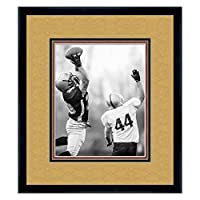 New Orleans Saints Black Wood Frame for a 8x10 Photo with a Triple Mat - Old Gold, Black, and Football Textured Mats