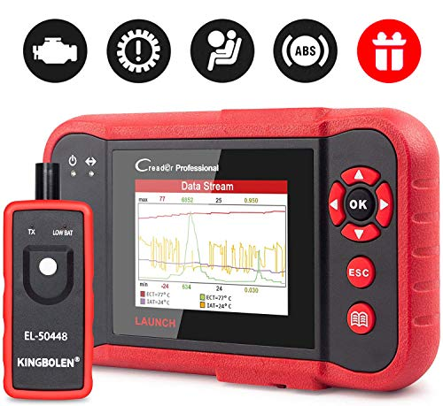 LAUNCH Crp123 Obd2 Scanner Engine Abs Srs Transmission Car Code Reader, 4 in 1 Live Data Graph, Print Data - Free Update Online