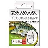 Daiwa Tournament Zanderhaken Vorfachhaken 70cm 10Stk. Gr. 2/0