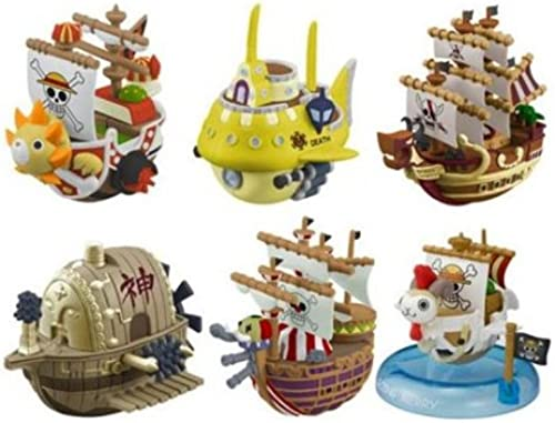 Megahouse One Piece Yura Serie 3 Wobbling Pirate Ship Collection Box 6 cm