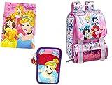 Kids Set Scuola n.1 Principesse Disney Zaino 10812 + Astuccio AST 51551 3 Zip + diario 74330A-7567