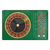 Modern Carpet Area Rugs Bellissimo gioco da tavolo da roulette 60 x 39 pollici netto Tappe...