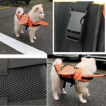 Vohoney Gilet de sauvetage pour chien avec poignée de flottabilité et de sauvetage Taille XL