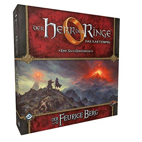 Fantasy Flight Games-Herr Ringe El Señor de los Anillos: LCG – Der Feurige Berg Saga Expansión en alemán (FFGD2661)